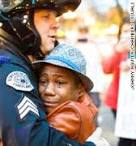 Police hug portland